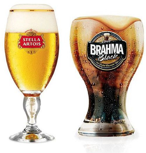 Taça Stella Artois + Copo Brahma BLACK Globimport