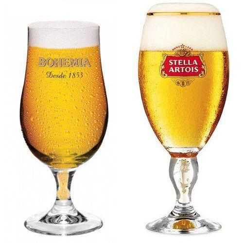 Taça Stella Artois em Vidro + Taça Bohemia Globimport