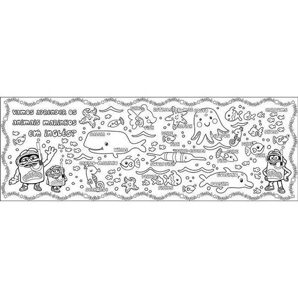 Tapete Bilingue com Apagador para Colorir PLAY-DOH FUN 8005-8 F0030-8