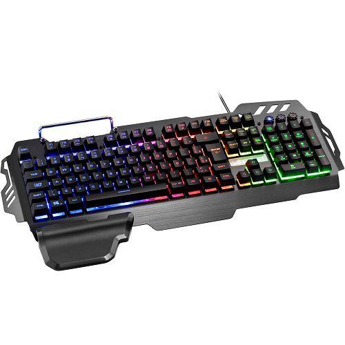 Teclado Warrior Gamer com Fio USB LED Superficie em Metal Multilaser TC210
