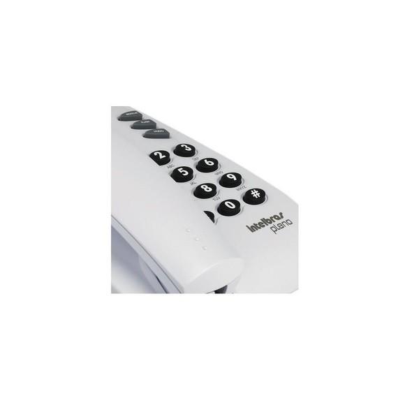 Telefone com Fio Pleno sem Chave Cinza Artico Intelbras 4080055