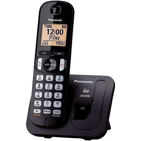 Telefone sem Fio Panasonic com ID 6.0 1.9 GHZ KX-TGC210LBB, Viva VOZ, Expansivel ATE 6 Ramais Visor Iluminado