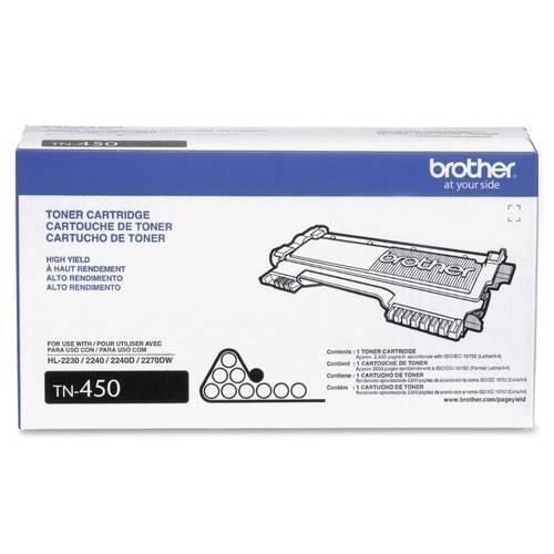 Toner Brother TN450BR Preto 2.600PG P/DCP7065DN