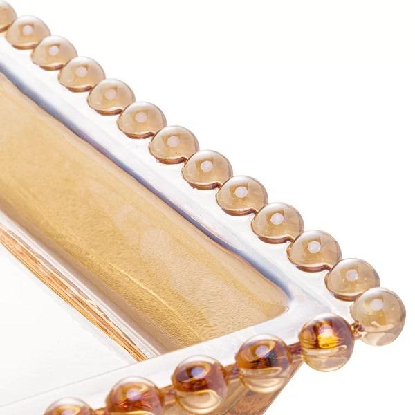 Travessa Cristal Pearl AMBAR 30X13CM WOLF 28225