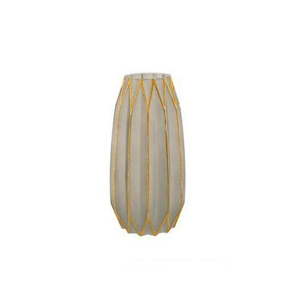 Vaso Fendi e Dourado em Vidro MART 6286