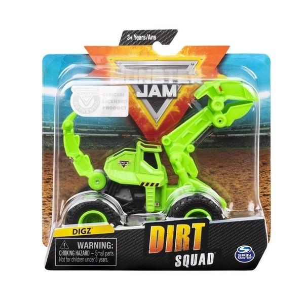 Veiculo Monster JAM Escala 1:64 DIRT Squad DIGZ SUNNY 2027