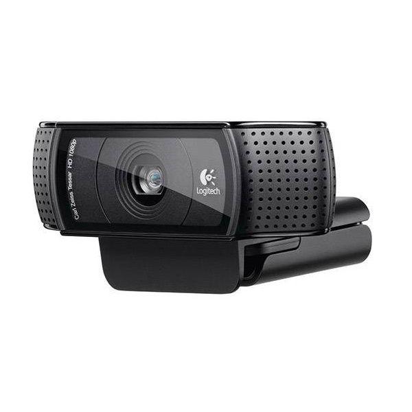 Webcam FULL HD C920 1080P 15MP Logitech com Foco Automatico e Som Stereo