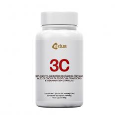 3C Cártamo + Coco + Chia 1000mg - 60 Cápsulas - Ektus