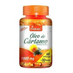 Óleo de Cártamo 1000mg - 60 + 10 Cápsulas - Tiaraju