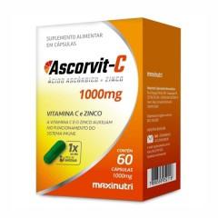 AscorVit C 1000mg - 60 Cápsulas - Maxinutri