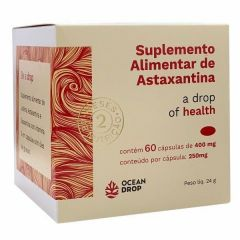 Astaxantina - 60 Cápsulas - Ocean Drop