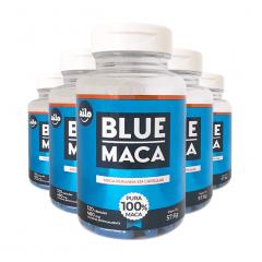 Blue Maca - 120 Cápsulas - Promoção 5 Unidades
