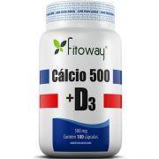 Cálcio 500 + D3 500mg - 180 Cápsulas - Fitoway