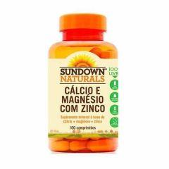 Cálcio + Magnésio + Zinco - 100 Comprimidos - Sundown