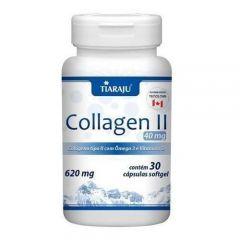 Collagen Tipo II 620mg com Ômega 3 + Vitamina D - 30 Cápsulas - Tiaraju