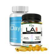 Combo Slim Day 60 Cápsulas e Slim Night 120 Softgels (LA Plus 1000mg) - Intlab