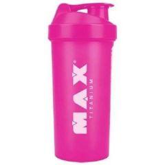 Coqueteleira Shaker Rosa - 600ml - Max Titanium