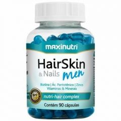Hair Skin & Nails Men Nutri-Hair Complex - 90 Cápsulas - Maxinutri