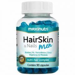Hair Skin & Nails Men Nutri-Hair Complex - 90 Cápsulas - Maxinutri