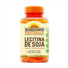 Lecitina de Soja 1200mg - 100 Cápsulas - Sundown