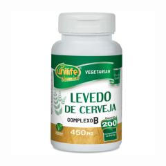Levedo de Cerveja Complexo B - 200 Comprimidos - Unilife