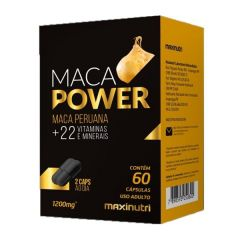 Maca Power 1200mg - 60 Cápsulas - Maxinutri