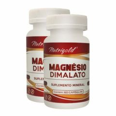 Magnésio Dimalato - 60 Cápsulas - Promoção 2 Unidades - Nutri Gold
