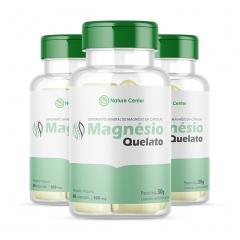 Magnésio Quelato - 60 Cápsulas - Promoção 3 Unidades - Nature Center
