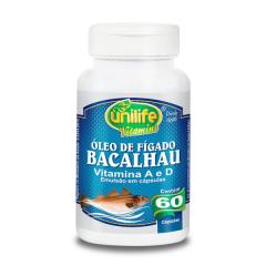 Óleo de Fígado de Bacalhau - 60 Cápsulas - Unilife