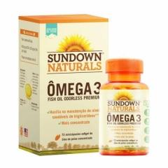 Ômega 3 Odorless (Sem Cheiro) - 72 MiniCápulas - Sundown