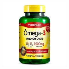 Ômega 3 (Óleo de Peixe) - 120 Cápsulas - Maxinutri