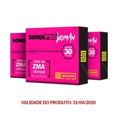 SomaPro Woman ZMA - 30 Comprimidos -  Promoção 3 Unidades - Iridium Labs