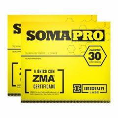 SomaPro ZMA - 30 Comprimidos - Promoção 2 Unidades - Iridium Labs