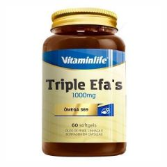 Triple Efa's 1000mg - 60 Softgels - Vitaminlife