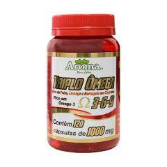 Triplo Ômega 3-6-9 1000mg - 120 Cápsulas - Aroma