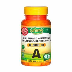 Vitamina A (Retinol) - 60 Cápsulas - Unilife