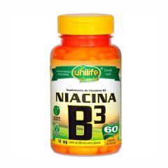Vitamina B3 (Niacina) - 60 Cápsulas - Unilife