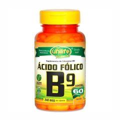 Vitamina B9 (Ácido Fólico) - 60 Cápsulas - Unilife
