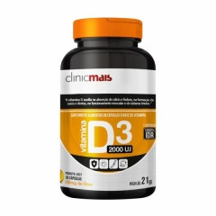Vitamina D3 - 30 Cápsulas - ClinicMais