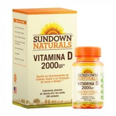 Vitamina D 2000 UI - 200 Softgels - Sundown