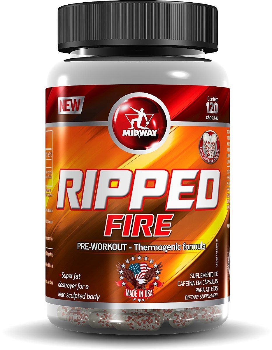 Ripped Fire - 120 cápsulas - MidWay
