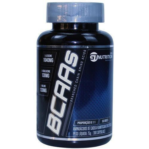 BCAAs - 100 Cápsulas - GT Nutrition