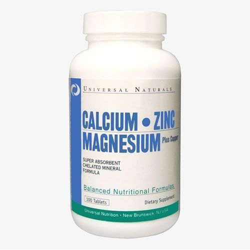 Calcium Zinc Magnesium - 100 Tabletes - Universal Natural