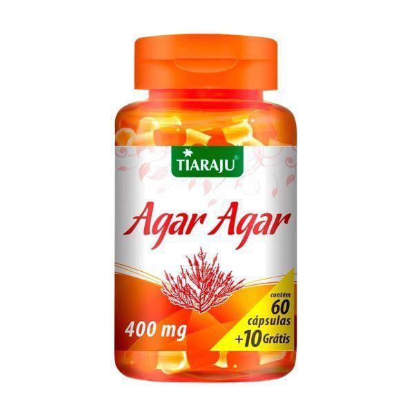 Agar-Agar - 60 + 10 Cápsulas - Tiaraju