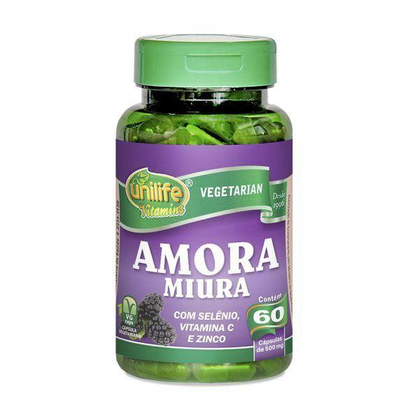 Amora Miura com Vitaminas 500mg - 60 Cápsulas - Unilife