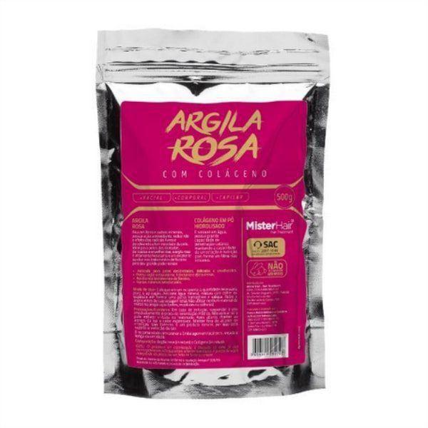 Argila Rosa com Colágeno - 500g - Mister Hair