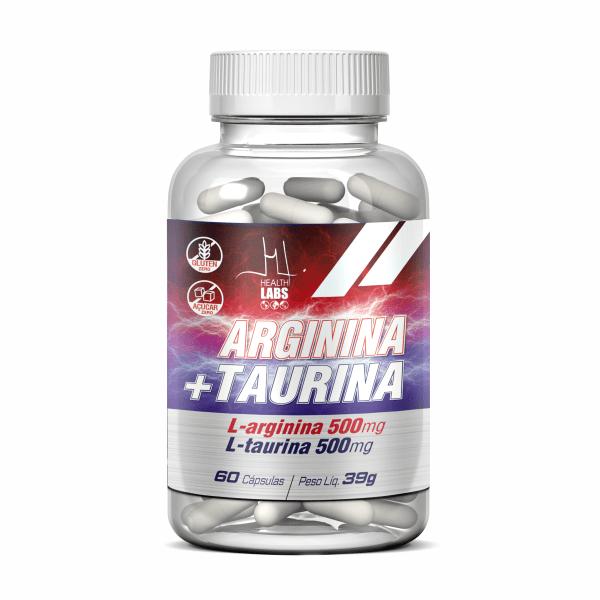 Arginina + Taurina - 60 Cápsulas - Health Labs