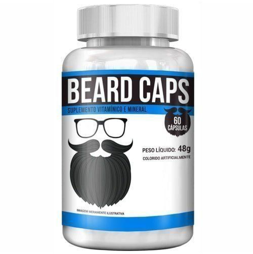 Beard Caps - 60 Cápsulas - Intlab