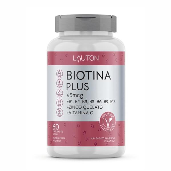 Biotina Plus - 60 Cápsulas - Lauton Nutrition