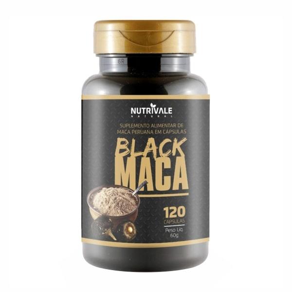 Black Maca - 120 Cápsulas - NutriVale